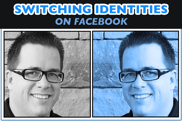 Switching Identities to Like, Comment and Share on Facebook