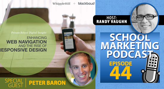 Podcast interview w Peter Baron @peterdbaron of @blackbaud about web navigation and responsive web design (episode #44)